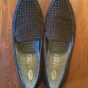 Dr Scholl's black fabric loafers
